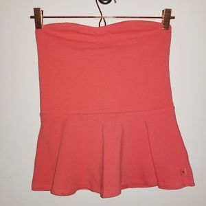 Express strapless peplum tube top NWT Small Coral